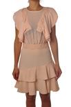 """Elisabetta Franchi """"abito corto con dettagli gale"""" Abito"""