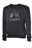 """K-Way """"felpa paricollo con stampa"""" Felpe"""