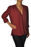 """Elisabetta Franchi """"camicia ampia con plissè sul retro"""" Bluse"""