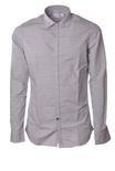 """Aglini """"camicia slim con microlettere ricamate"""" Camicia"""