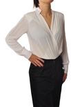 """Elisabetta Franchi """"camicia body con collo in piedi"""" Bluse"""