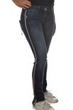 """Patrizia Pepe """"jeans elasticizzato bande laterali"""" Pantaloni"""