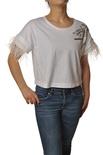 "Patrizia Pepe ""t-shirt con piume e castoni"" T-shirts"