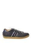 """Leather Crown """"sneackers basse con lacci bicolore e borchie"""" Sneakers"""