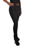 "Elisabetta Franchi ""jeans vita alta con logo"" Pantaloni"