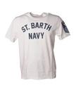 """Saint Barth """"TshirtManPTSBNavy01N"""" T-shirts"""