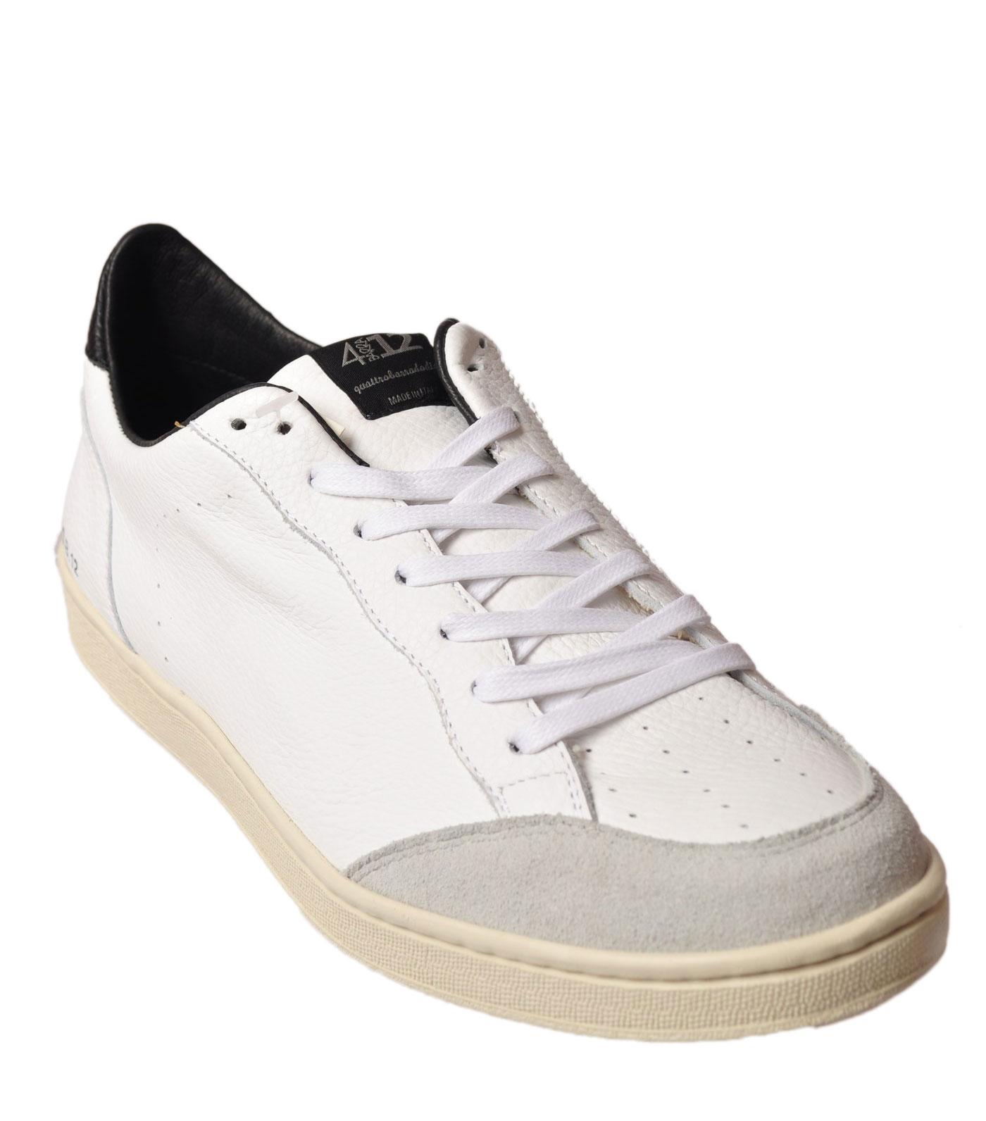 Quattrobarradodici - scarpe-scarpe da ginnastica low - Man - bianca - 49715N184233