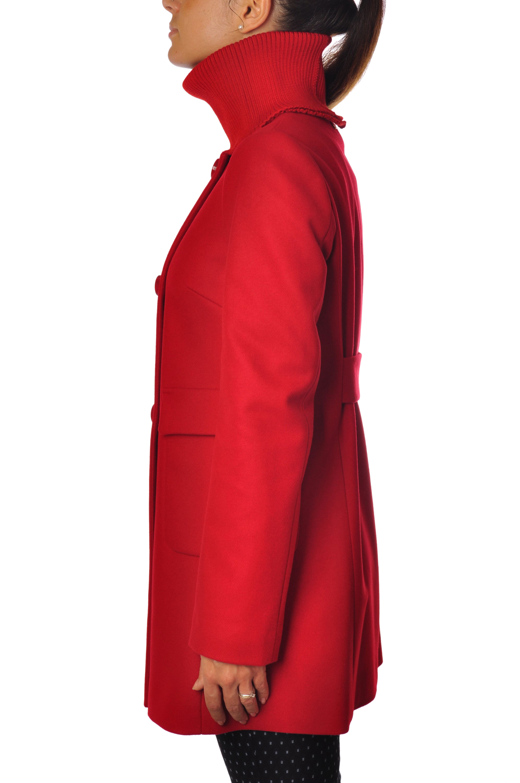 Lu Donna Rosso Cappotto Cappotto Lu Rosso Cappotto Yio Donna Yio EDHI29