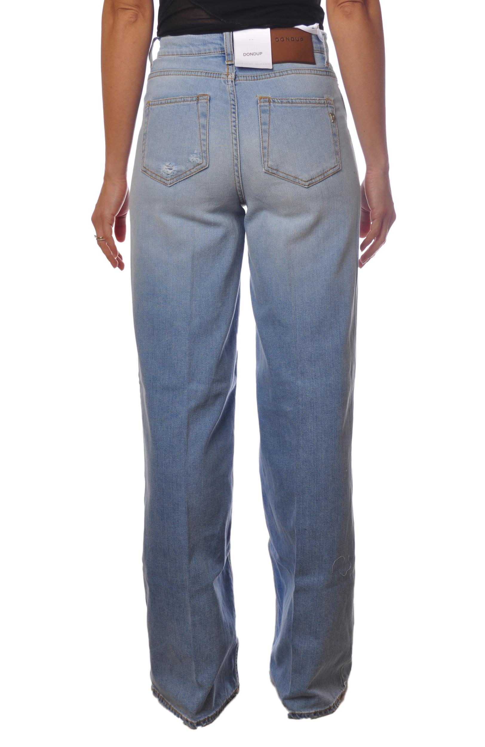"Dondup ""jeans vita alta gamba larga"" Pantaloni"