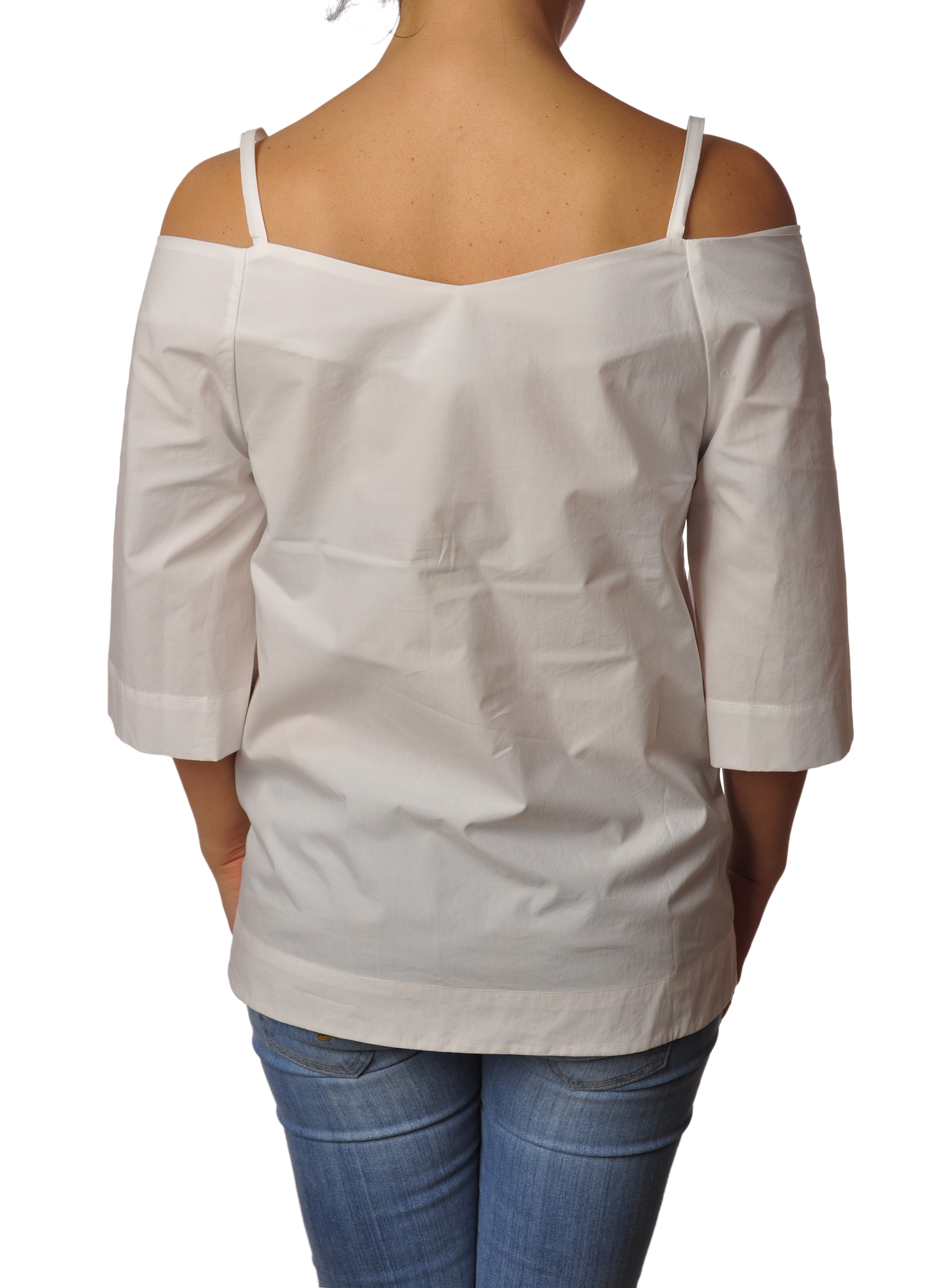 """Ottod'ame """"blusa ampia con spallini"""" Bluse"""