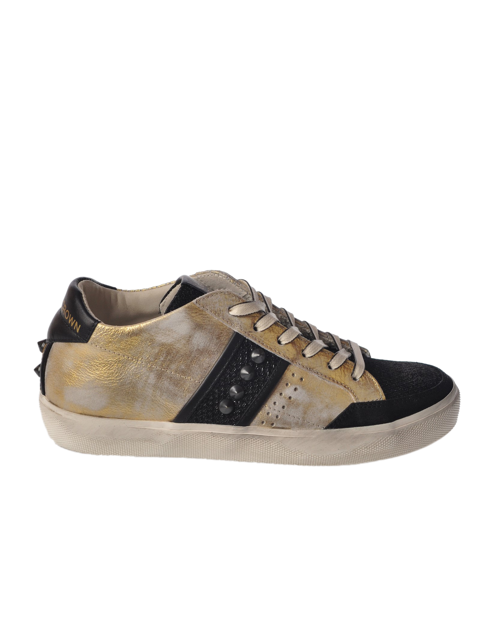 "Leather Crown ""sneackers laminate con borchie"" Sneakers"