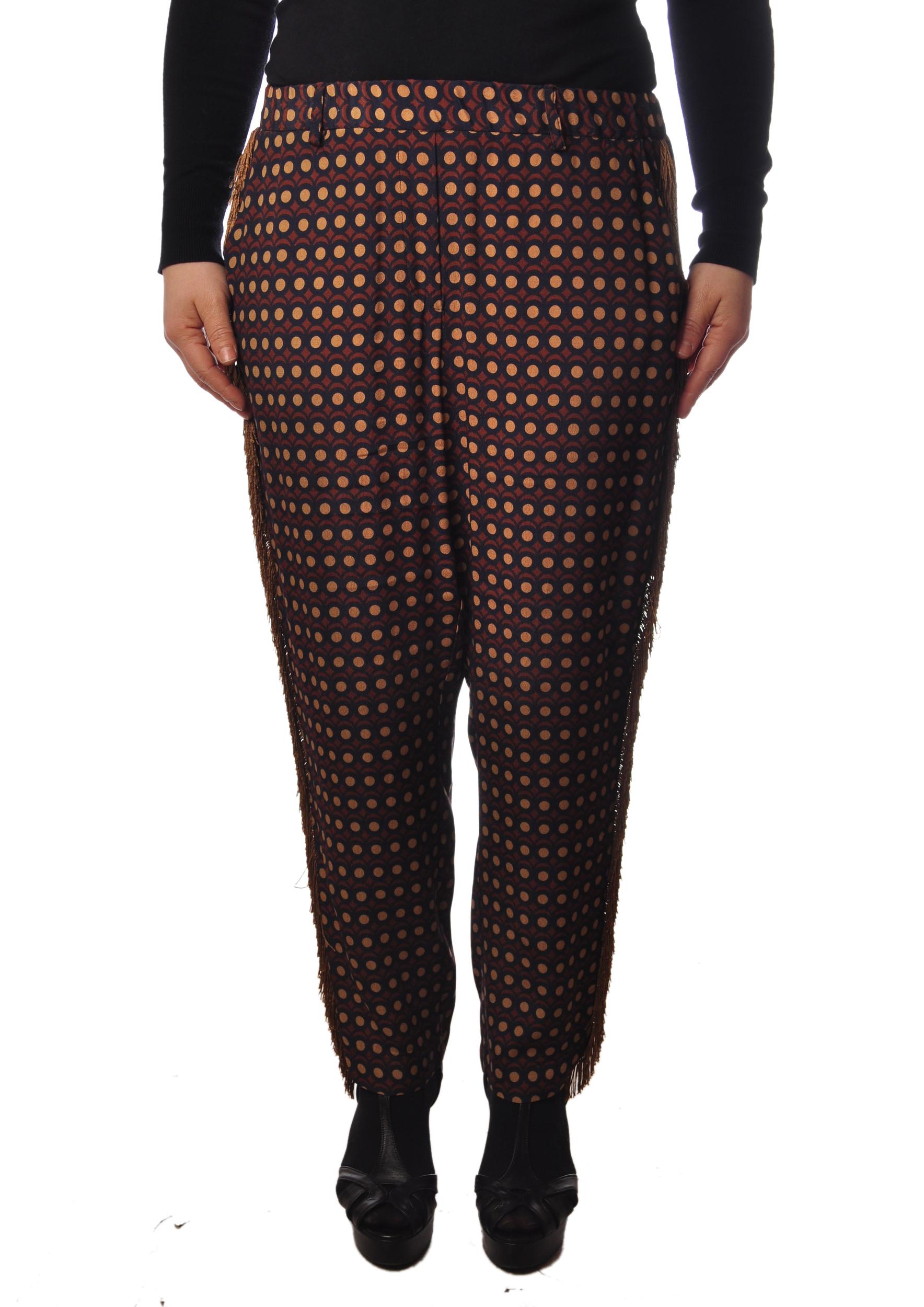"Ottod'ame ""pantalone fantasia con frange"" Pantaloni"