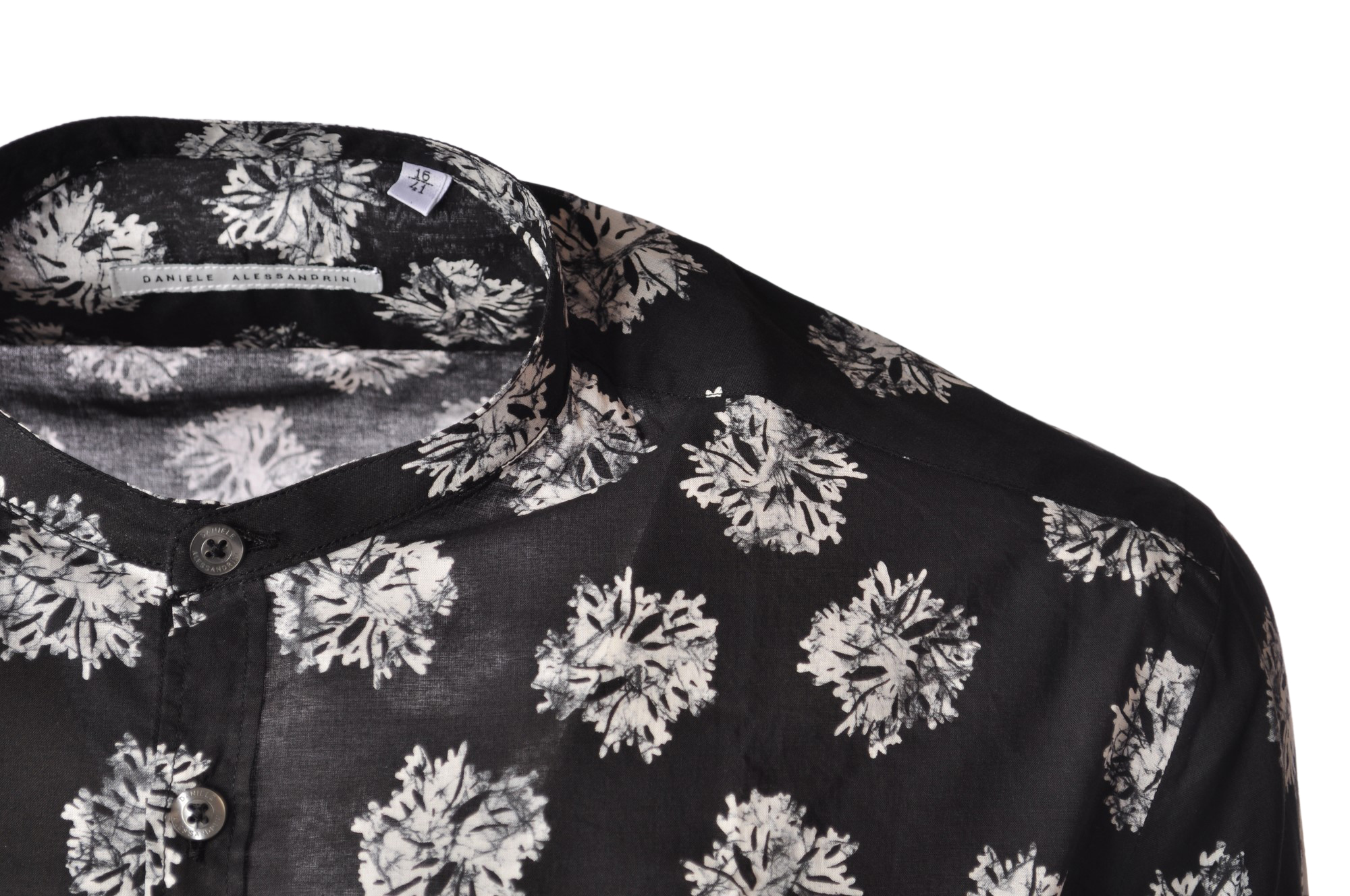 """Daniele Alessandrini """"camicia coreana stampata"""" Camicie"""