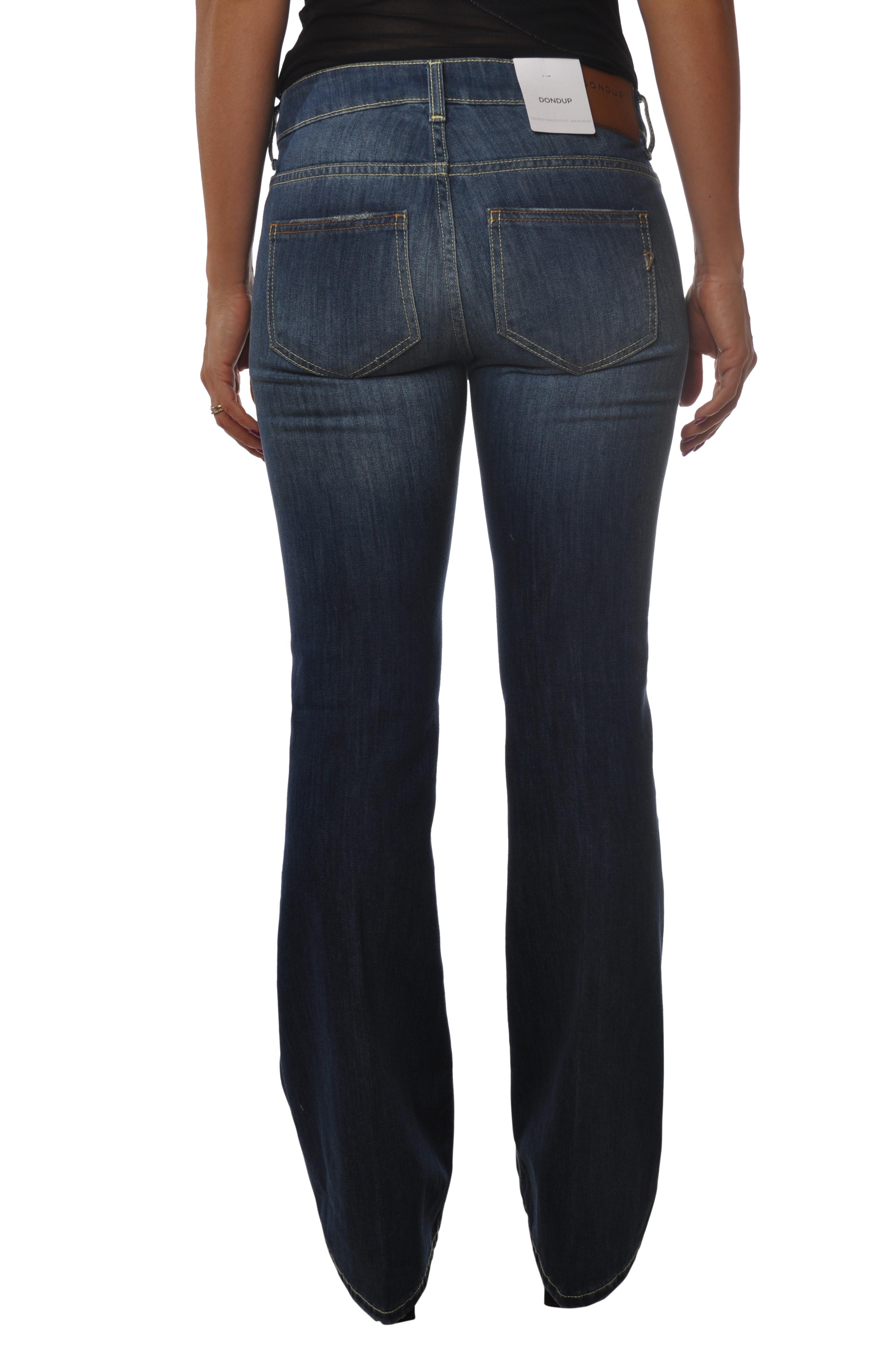 5385307c194644 Donna Dondup Pantaloni Gambe Jeans Nero 1UxOqvw