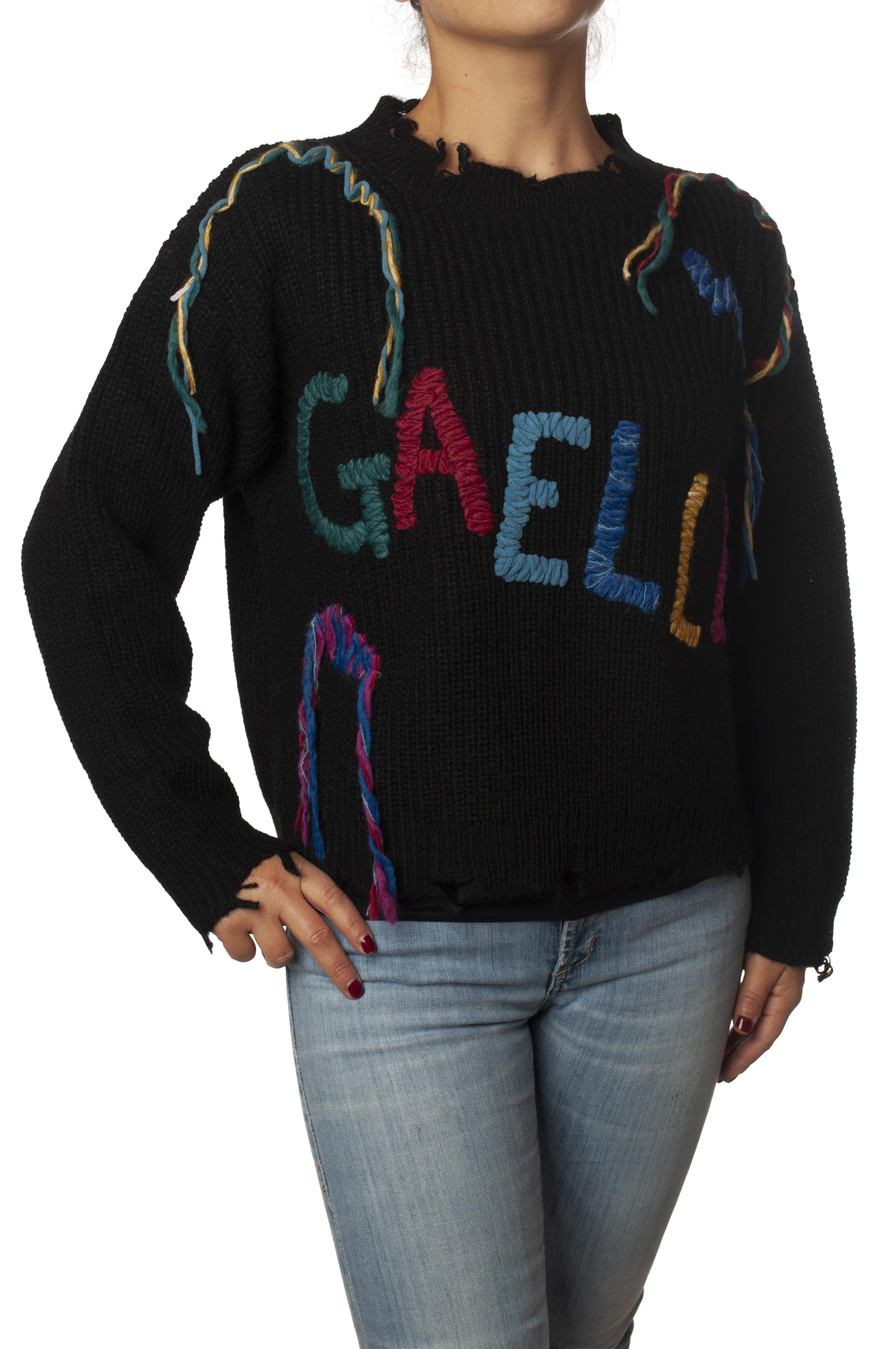 """Gaëlle Paris """"maglia con inserti di filato in contrasto"""" Pullover"""