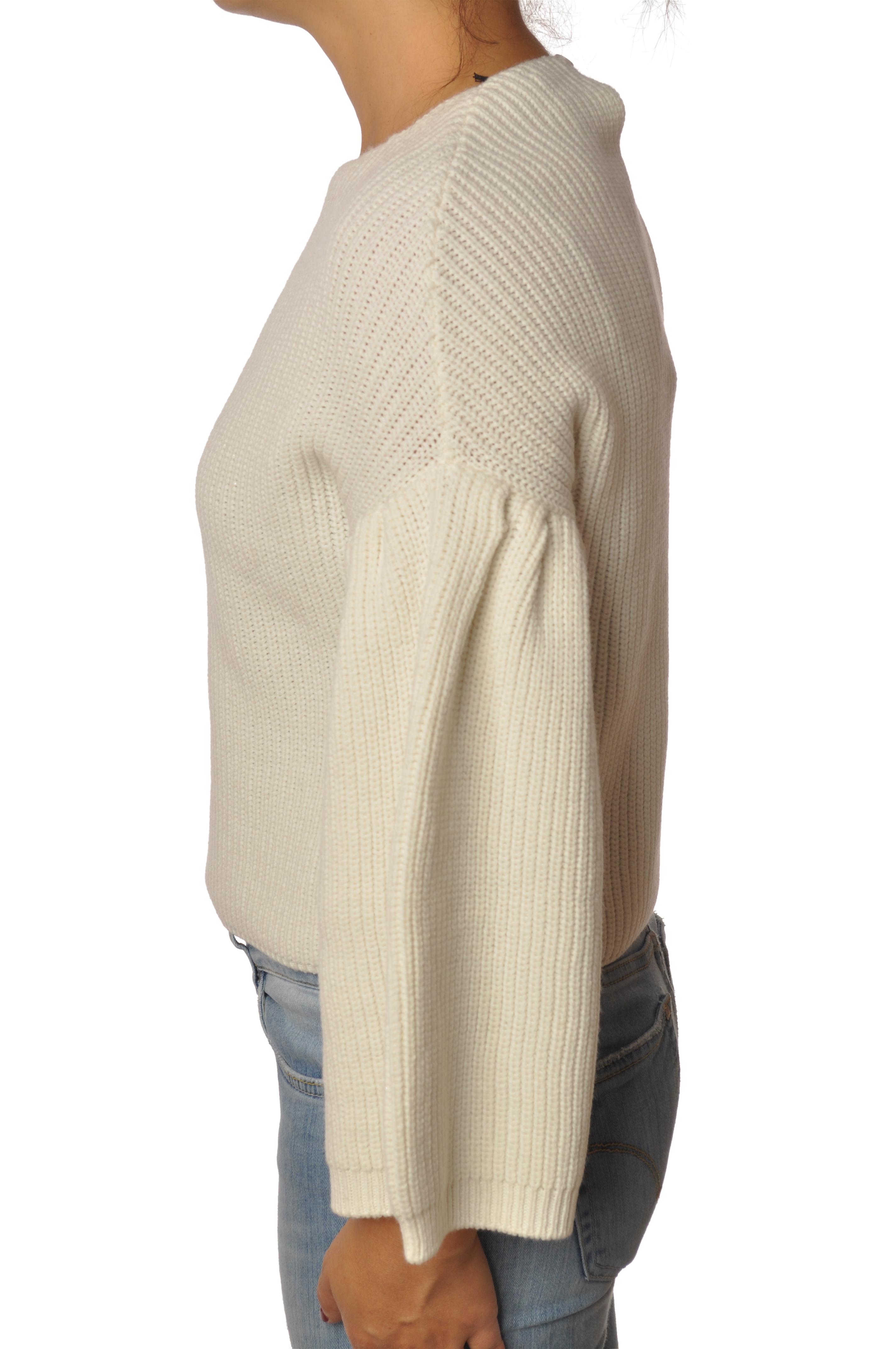 "Ki 6 ""maglia scatolina manica svasata"" Pullover"