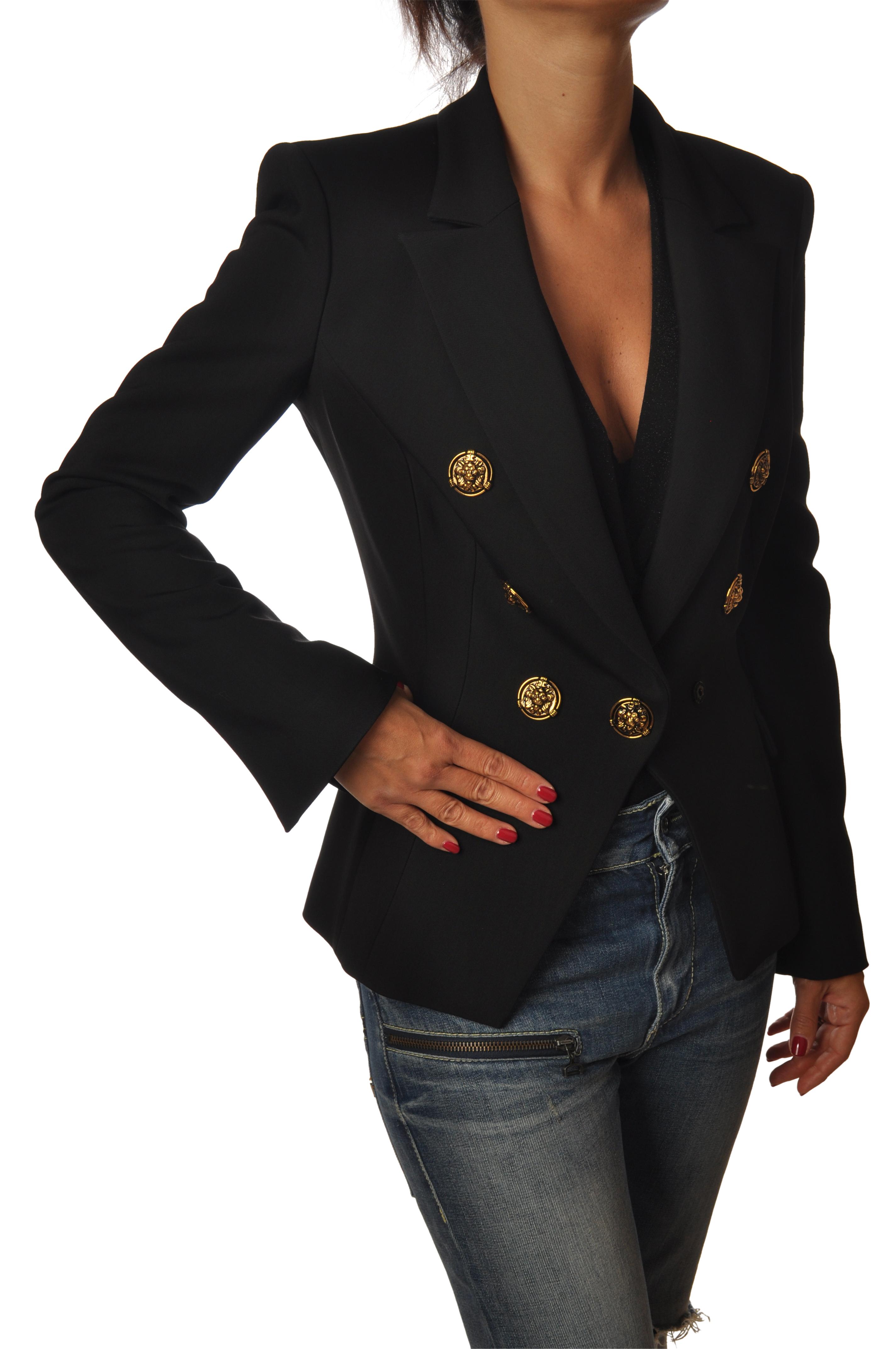 giacca doppio petto donna botoni gioiello
