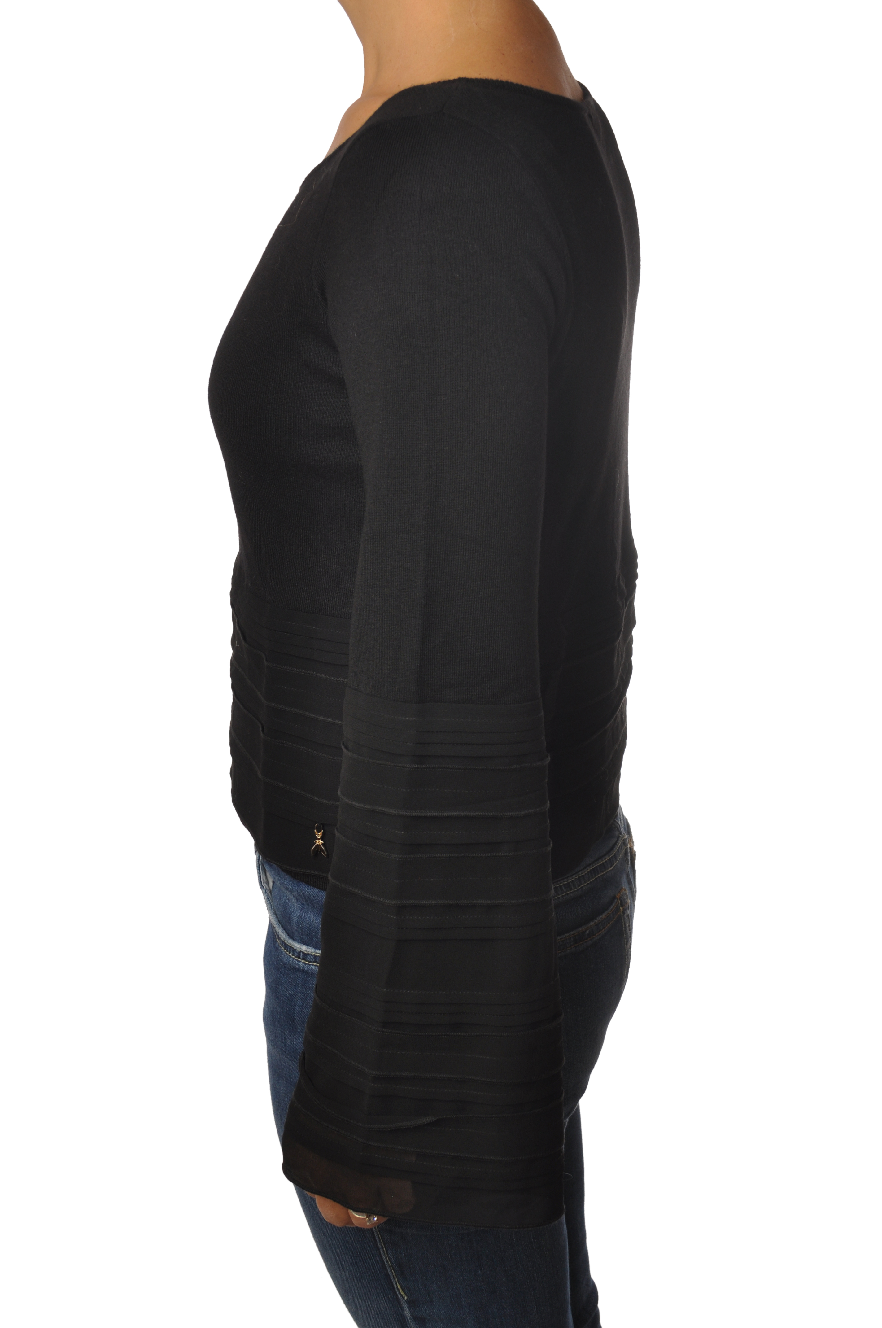 """Patrizia Pepe """"maglia con tessuto su maniche e sul fondo"""" Pullover"""