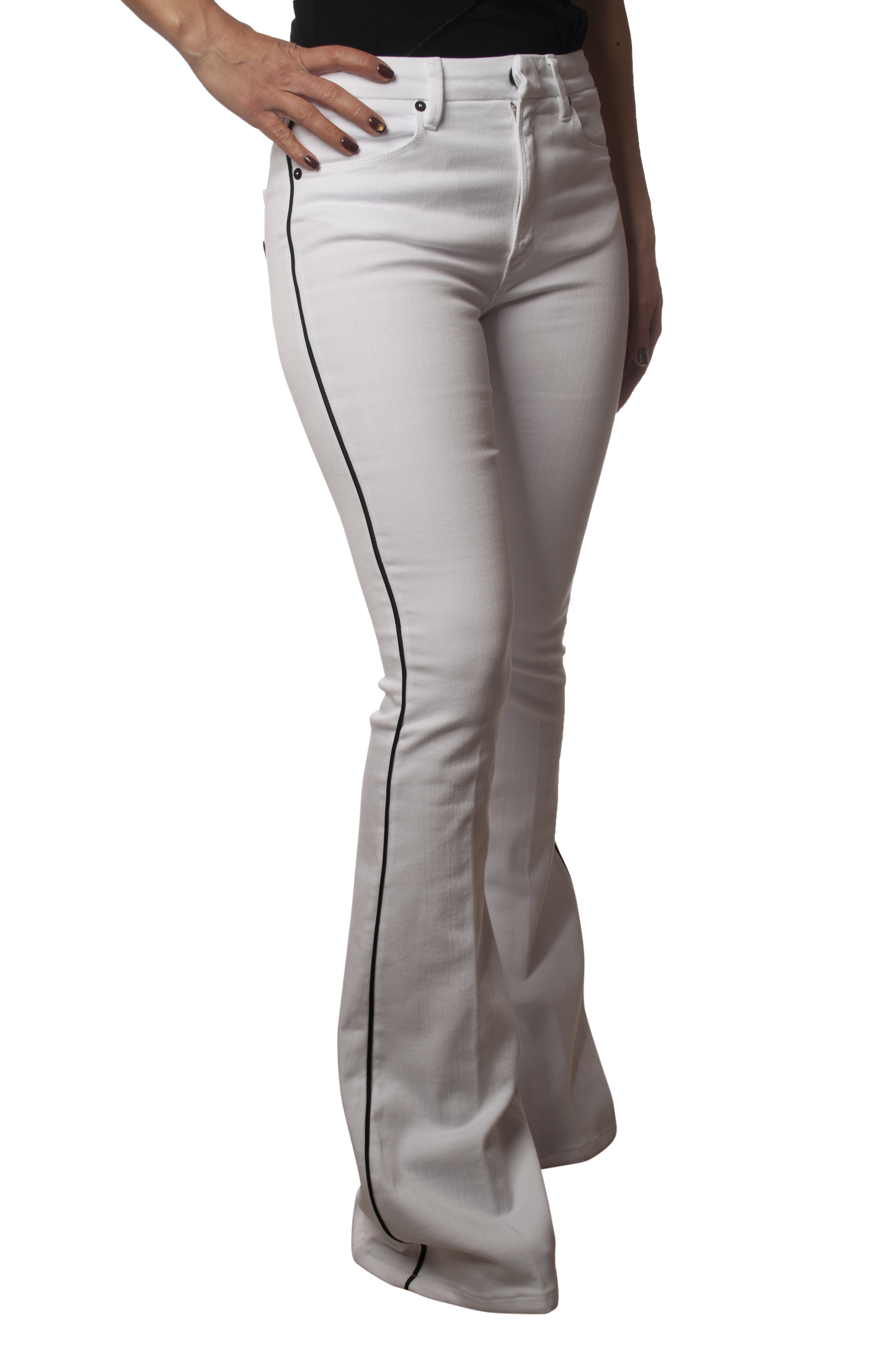 Dondup - Jeans, Trousers, leg - Woman - White - 5940609C190847
